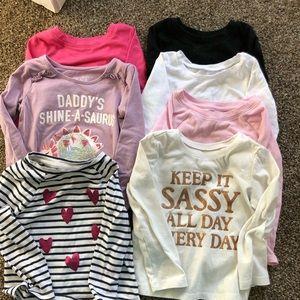 Set of 6 toddler girl t shirts